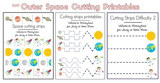 Outer Space Cutting Printables download