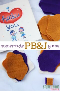 Homemade PB&J Felt Game