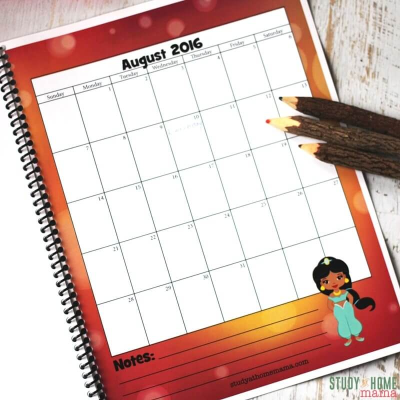How to get kids interested in learning about the months of the year and days of the week? Give them a free calendar with a theme they'll love!