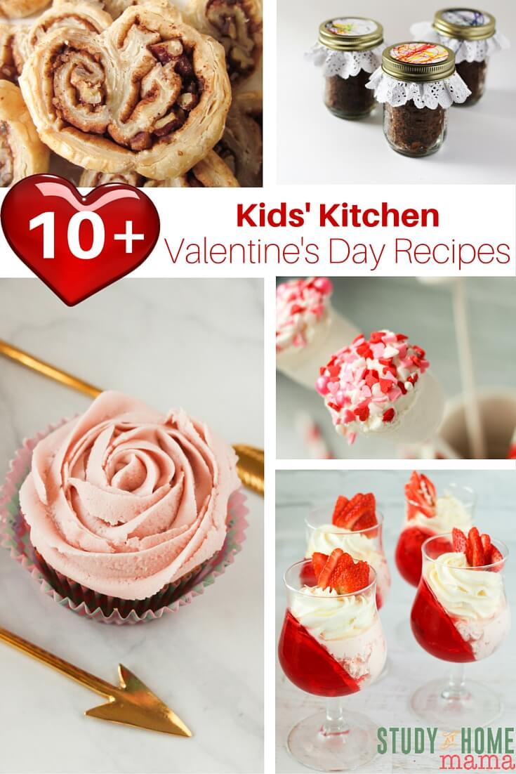 10+ Valentine's Day Recipes That Kids Can Make! Check out these sweet Valentine's Day desserts and snacks for some easy kids' kitchen projects