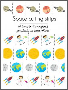 Sample page of  Sugar, Spice and Glitter's Space Cutting Strips