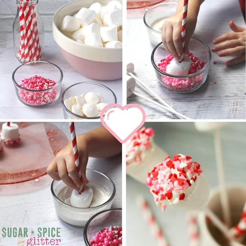 How to make Valentine's Day Dipped Marshmallows
