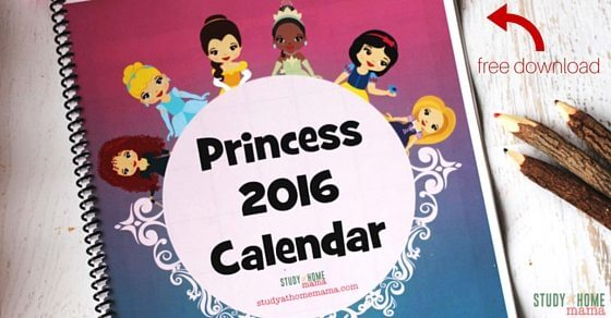 A free calendar printable for your little Princess. Disney Princess calendar to teach your child the months of the year and days of the week. A great alternative to boring agendas