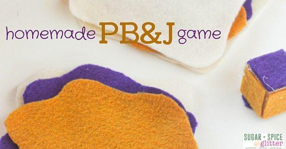 Homemade PB&J Game kids will love
