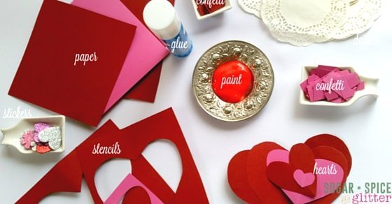 Materials for Montessori Valentine's Crafts