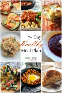 7 Day Healthy Meal Plan 8 on Sugar Spice and Glitter