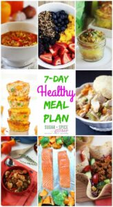 Healthy Meal Plan 9 on Sugar Spice and Glitter