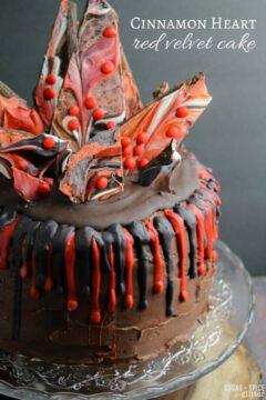 Cinnamon Heart Red Velvet Cake