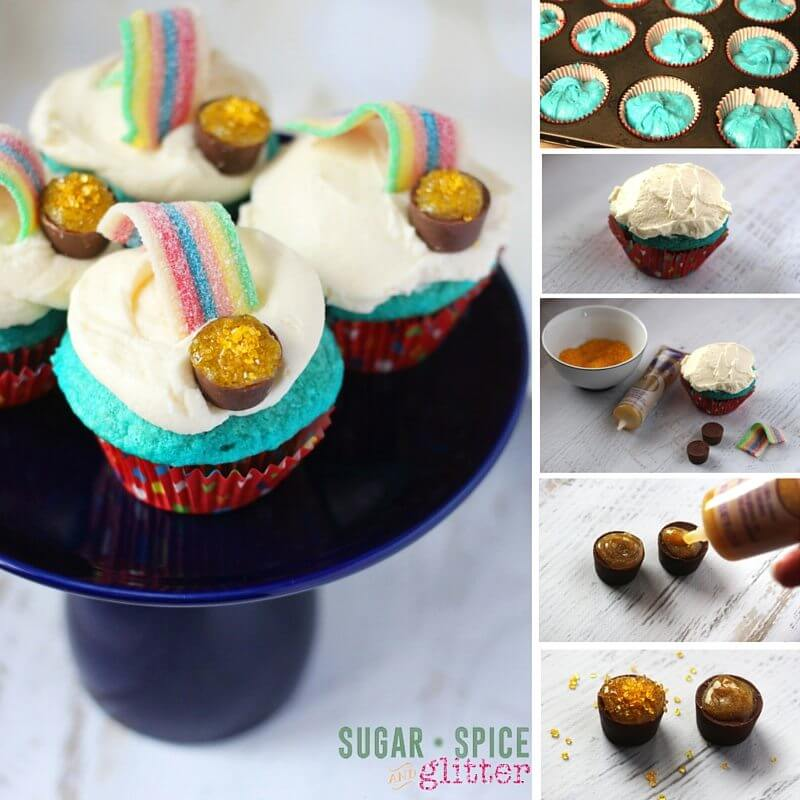 How to make rainbow cupcakes - an over the rainbow themed cupcake so easy, kids can make them!