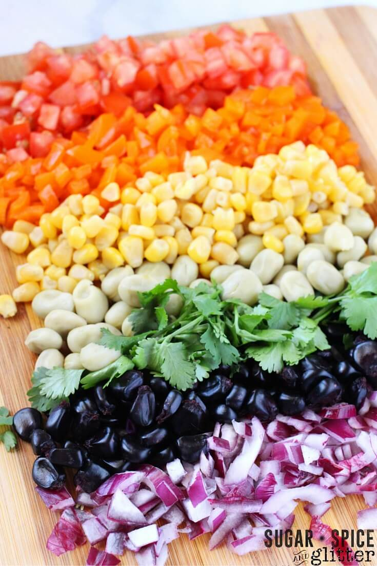 Encourage your kids to eat a rainbow with this fresh salsa recipe