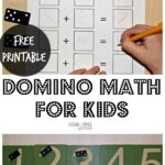 Domino Math for Kids with Free Printable