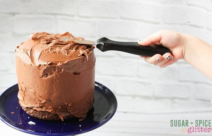 Oh my gosh, would you look at that amazing chocolate buttercream. To die for.