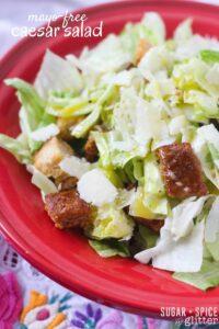 mayo-free caesar salad
