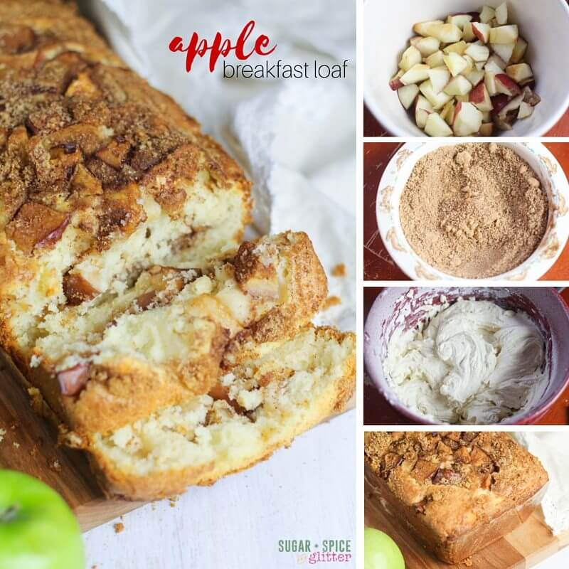 How to make an apple breakfast loaf recipe - so easy, kids can help make it in less than 10 minutes.