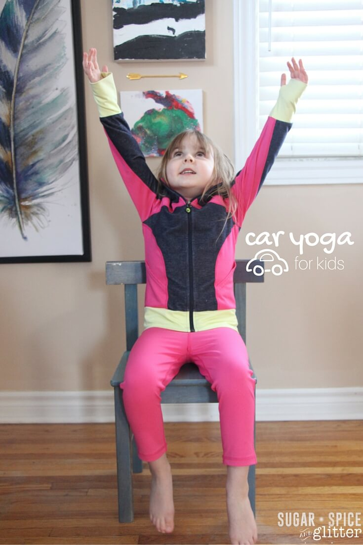 This is perfect for road trips with kids - car yoga poses for kids! Safe ways to let kids stretch and feel less antsy during summer road trips