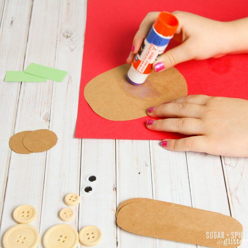How to build a Corduroy bear craft