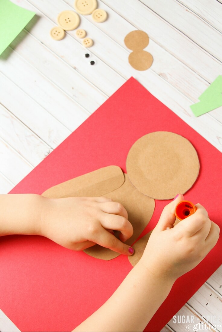 Easy Corduroy Shape Craft for kids