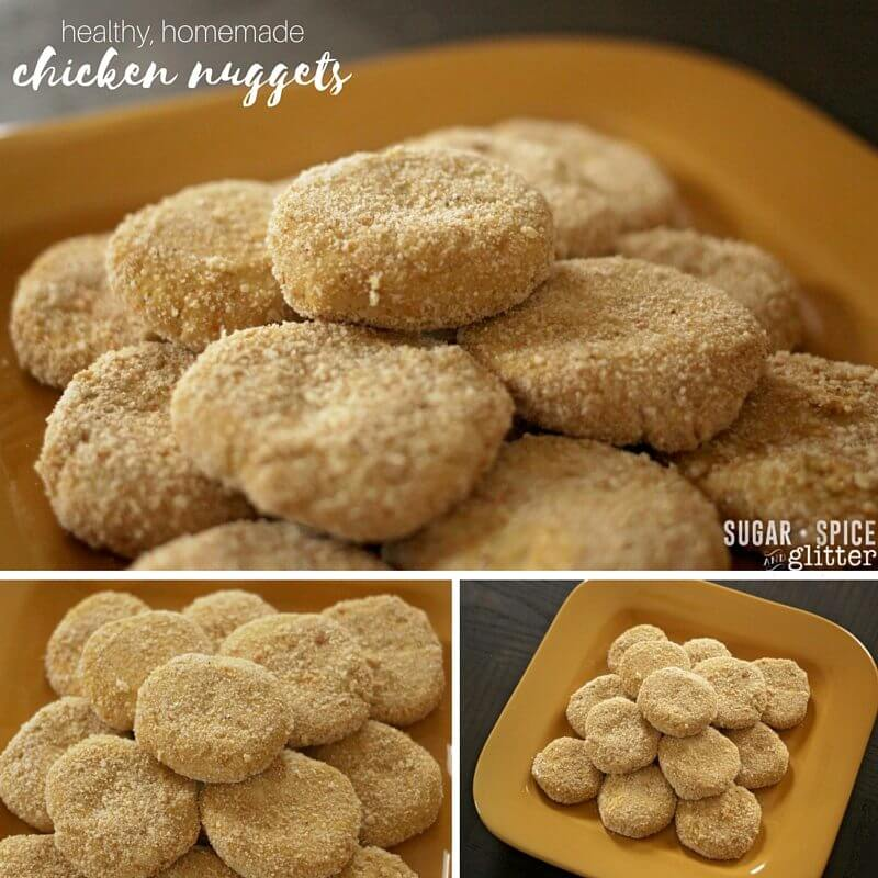 healthy, homemade chicken nuggets - once you try this recipe, you'll never go back to store-bought chicken nuggets again!