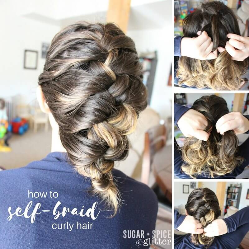 Phenomenal How To Self Braid Curly Hair Sugar Spice And Glitter Short Hairstyles For Black Women Fulllsitofus