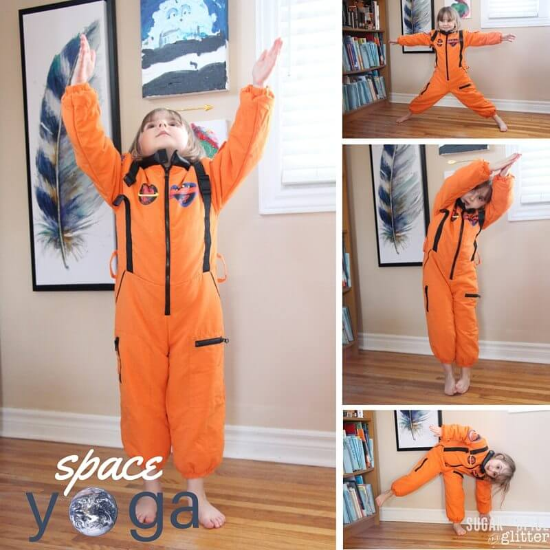 A fun space yoga for kids sequence - how to do yoga with kids