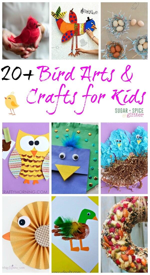 20 bird crafts for kids sugar spice and glitter for Glitter crafts for kids