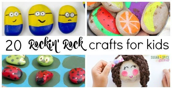 20 Rockin Rock Crafts for Kids | Sugar Spice and Glitter