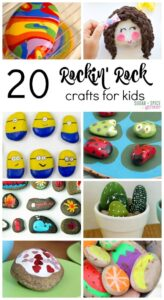20 Rockin Rock Crafts for Kids on Sugar Spice and Glitter