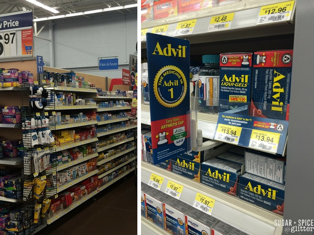 advil walmart display