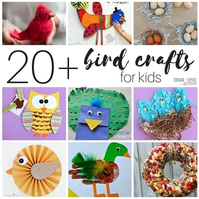 20 bird crafts for kids sugar spice and glitter