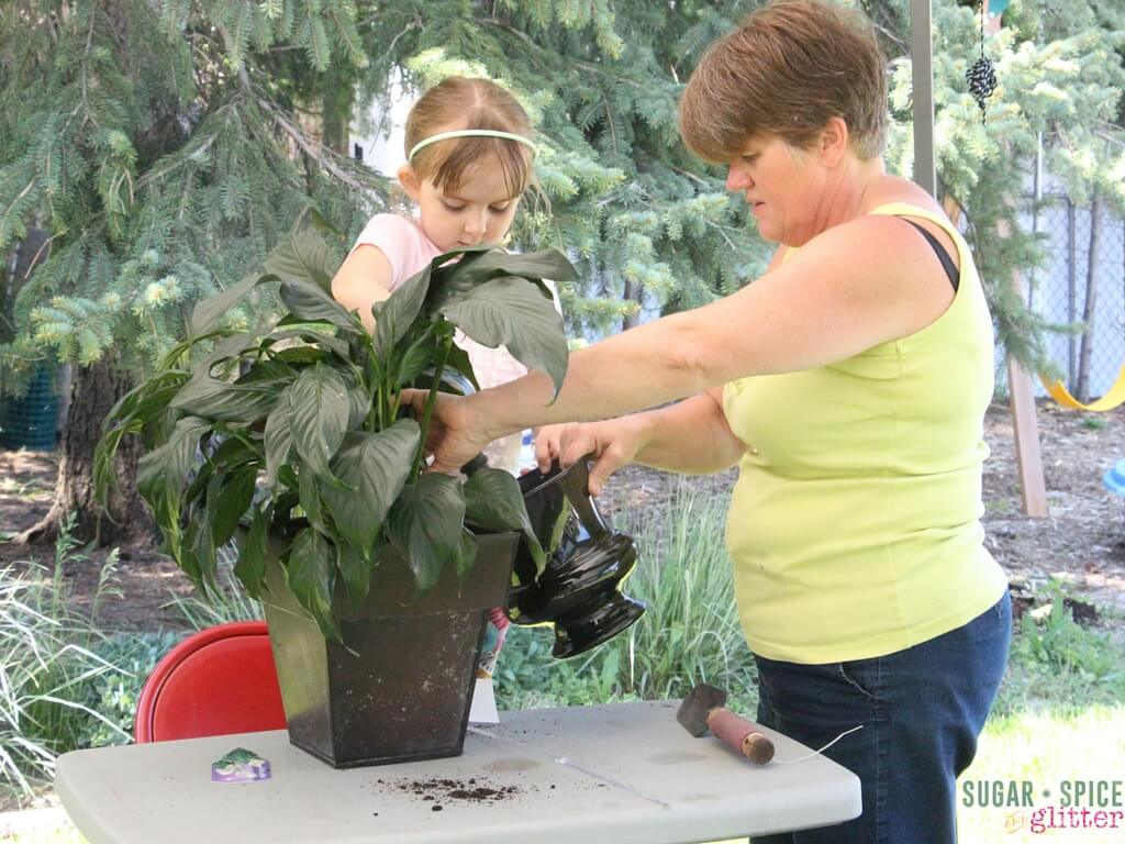 gardening with grandparents