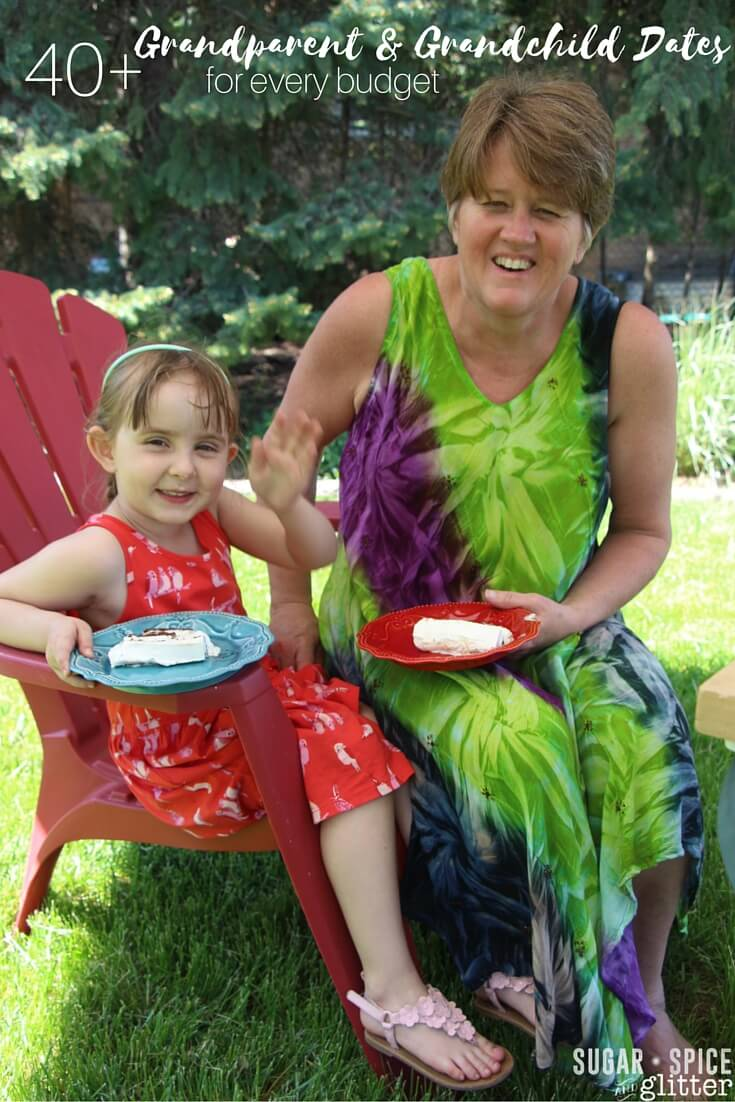 Fun ideas for grandparents to stay active in their grandchildren's lives - for every budget! Awesome ideas for grandparent weekends or Grandparent's Day!