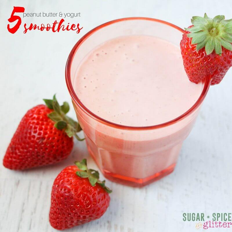These 5 peanut butter and yogurt-based smoothies look delicious - much better than some other smoothie recipes I've tried and thrown out before finishing