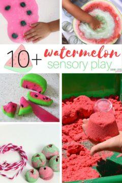 10+ Watermelon Sensory Play