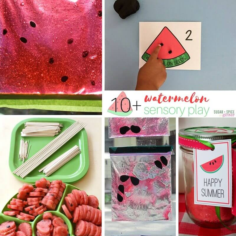 watermelon sensory play ideas
