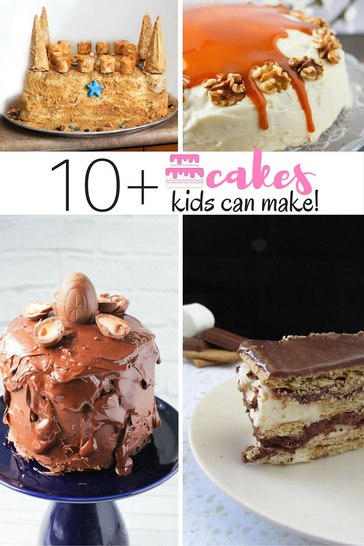 These amazing and delicious cakes all have one thing in common - they were made by kids! Check out the full list of cakes kids can make on Sugar, Spice & Glitter