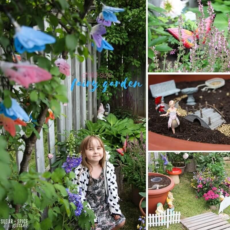 child-size fairy garden