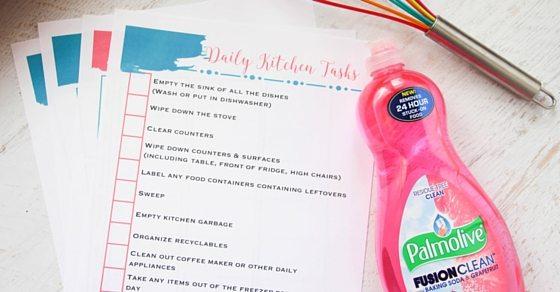 daily kitchen tasks
