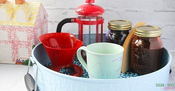 diy pour over coffee station (1)