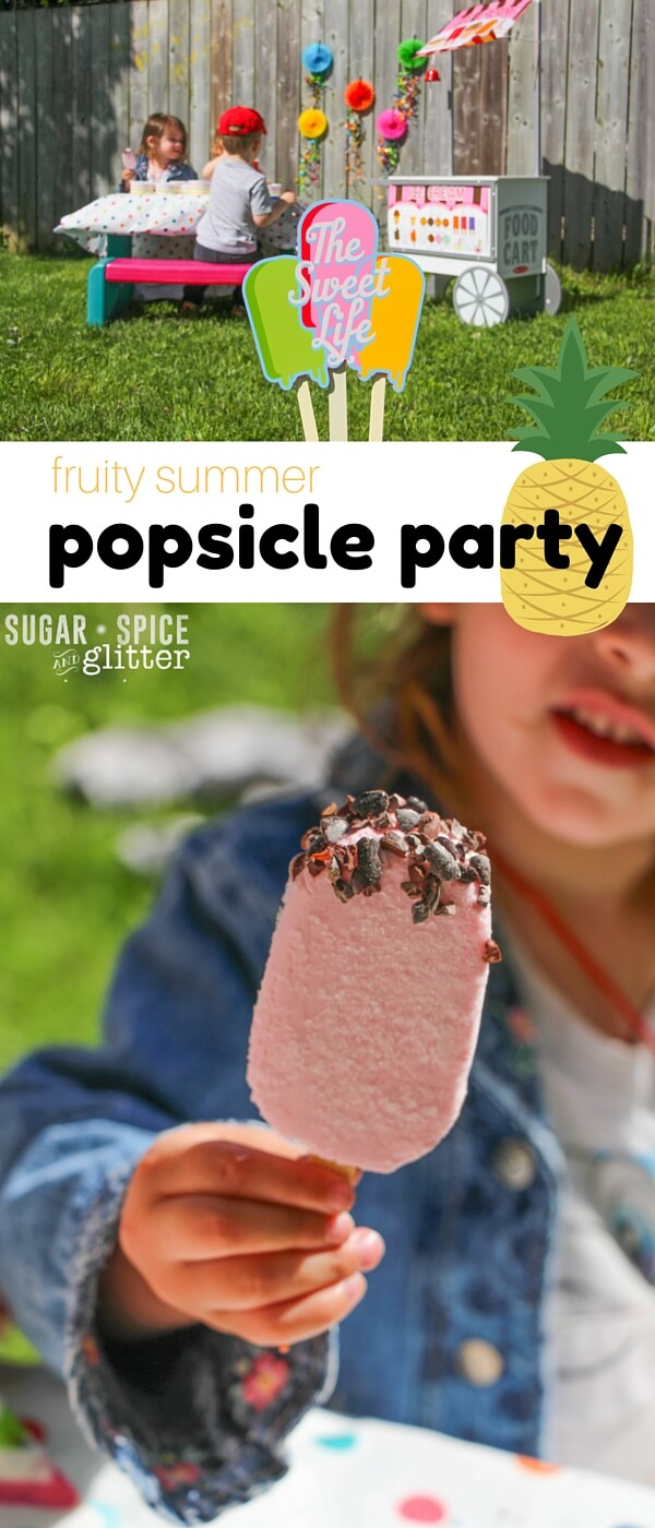 The perfect low-key summer party, or a fun summer playdate - host your own fruity summer popsicle party to keep the kids cool this summer.