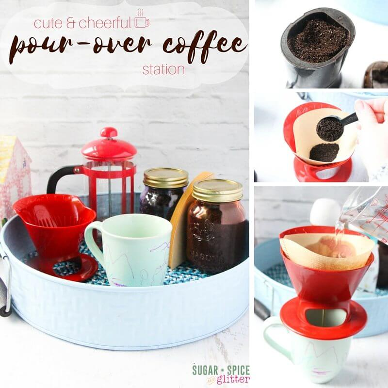 Pour-over coffee station