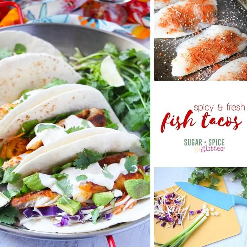 Chicken enchilada dip recipe sugar spice and glitter for Spicy fish tacos