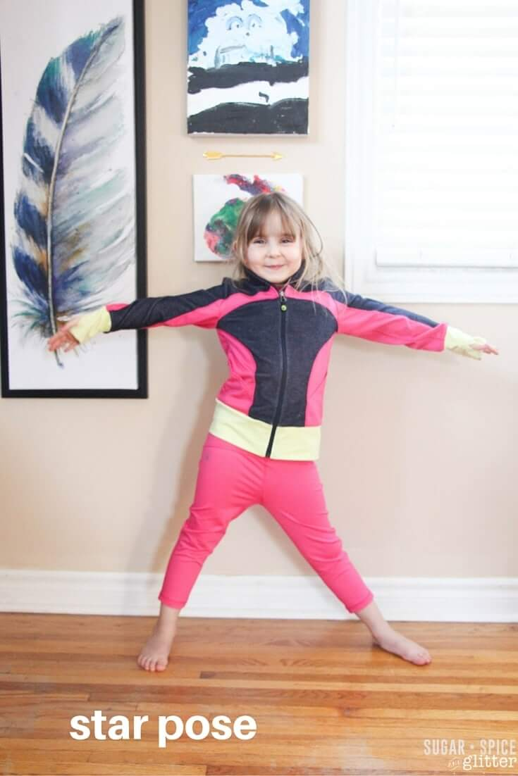 yoga star pose for kids