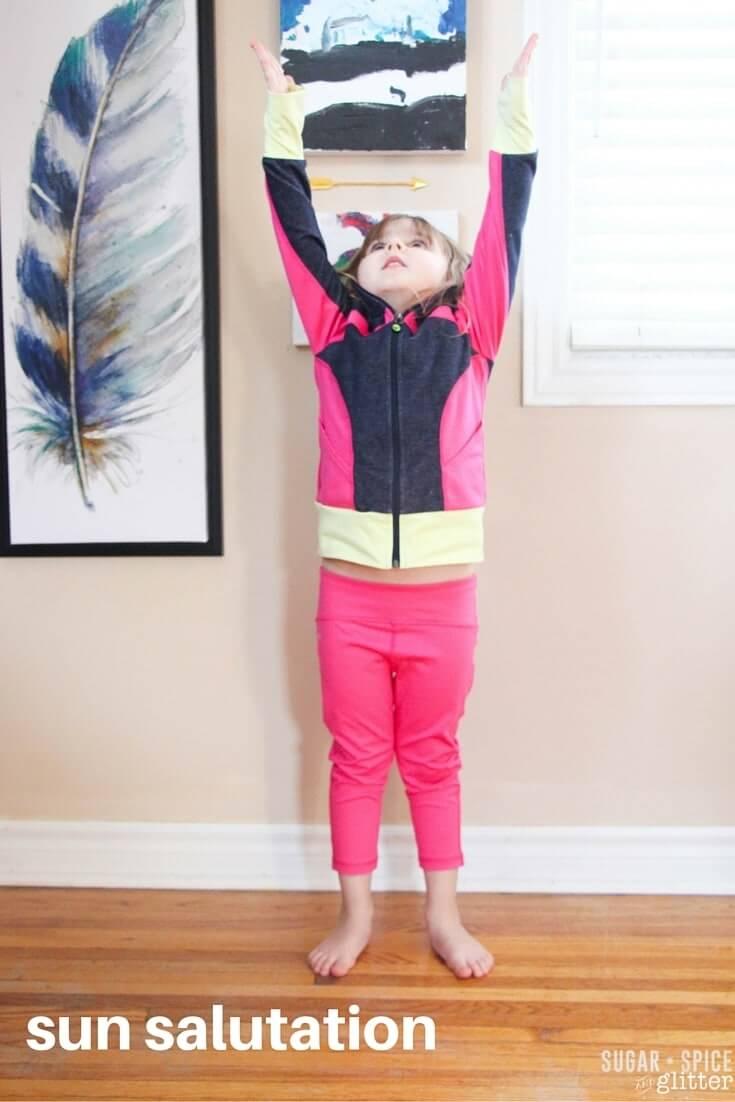 yoga sun salutation for kids