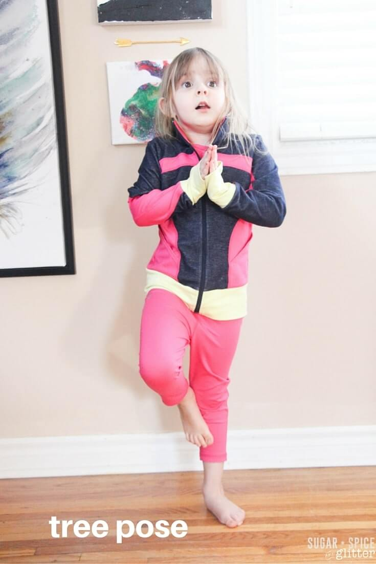 tree pose for kids yoga