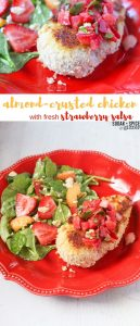 almond-crusted chicken with fresh strawberry salsa