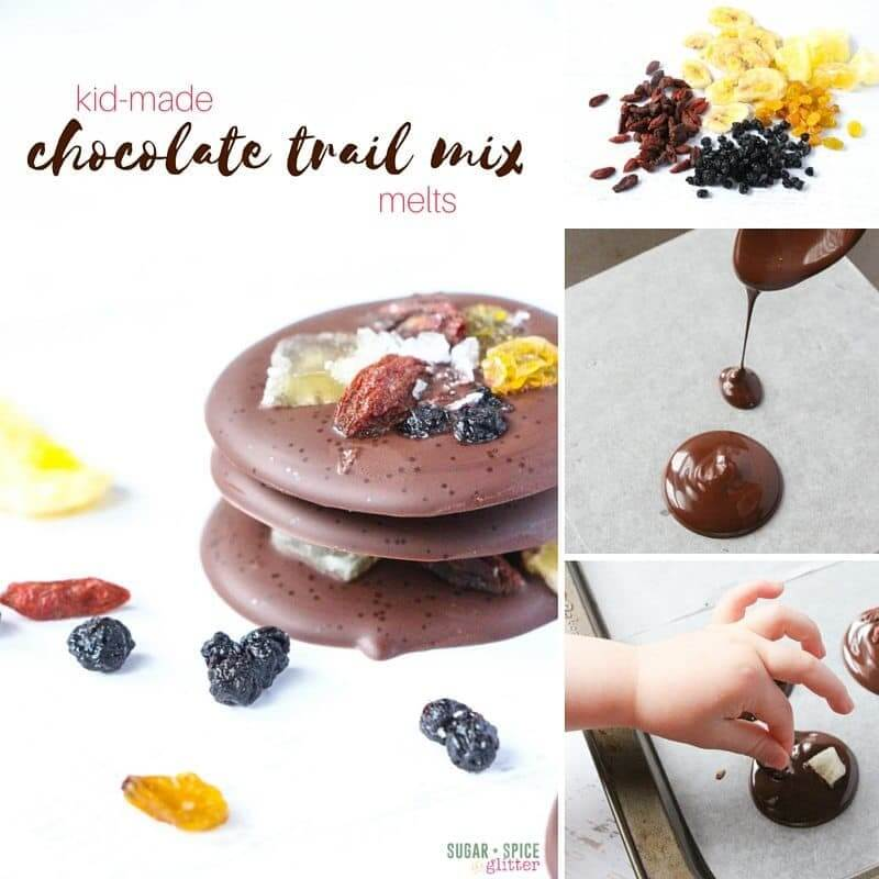 How to make these kid-made chocolate trail mix melts - a healthy dessert kids will love