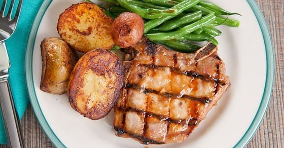 peach glazed pork chops recipe