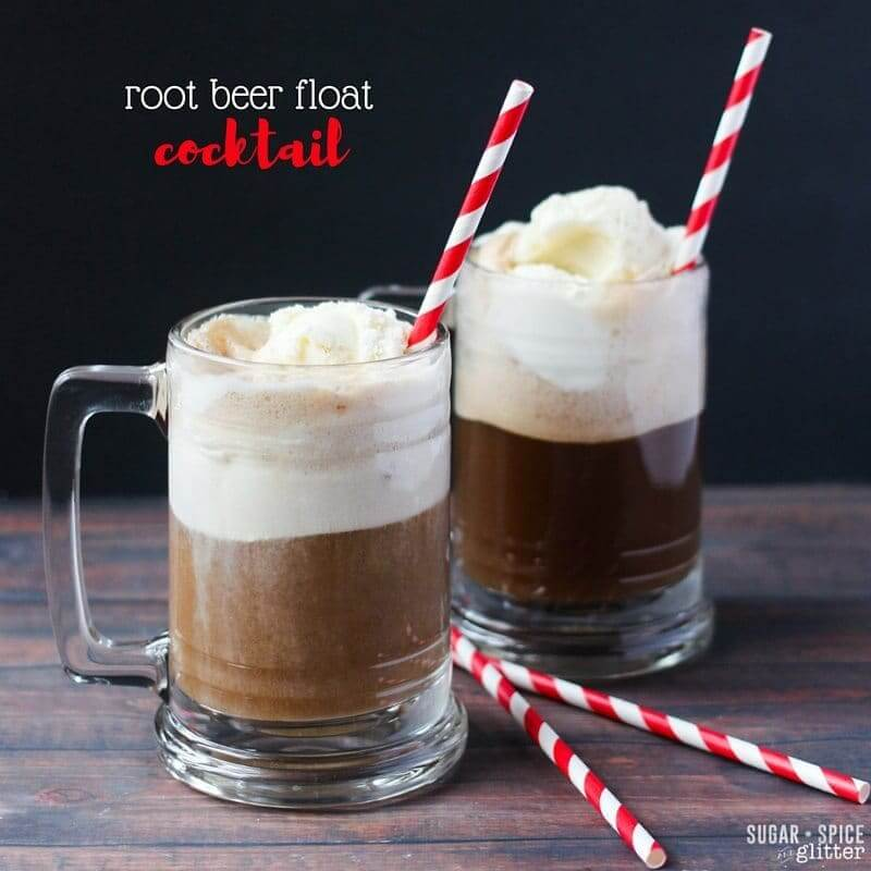 The only thing better than a root beer float? A root beer float cocktail made with butterscotch schnapps! This is my new go-to summer cocktail drink