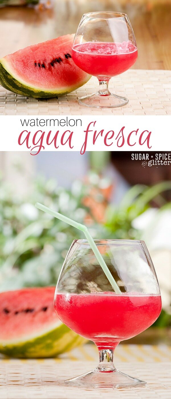 This watermelon agua fresca is a fun alternative to lemonade and a great option for guests who don't drink. A summer drink recipe that's refreshing and just a little bit unexpected