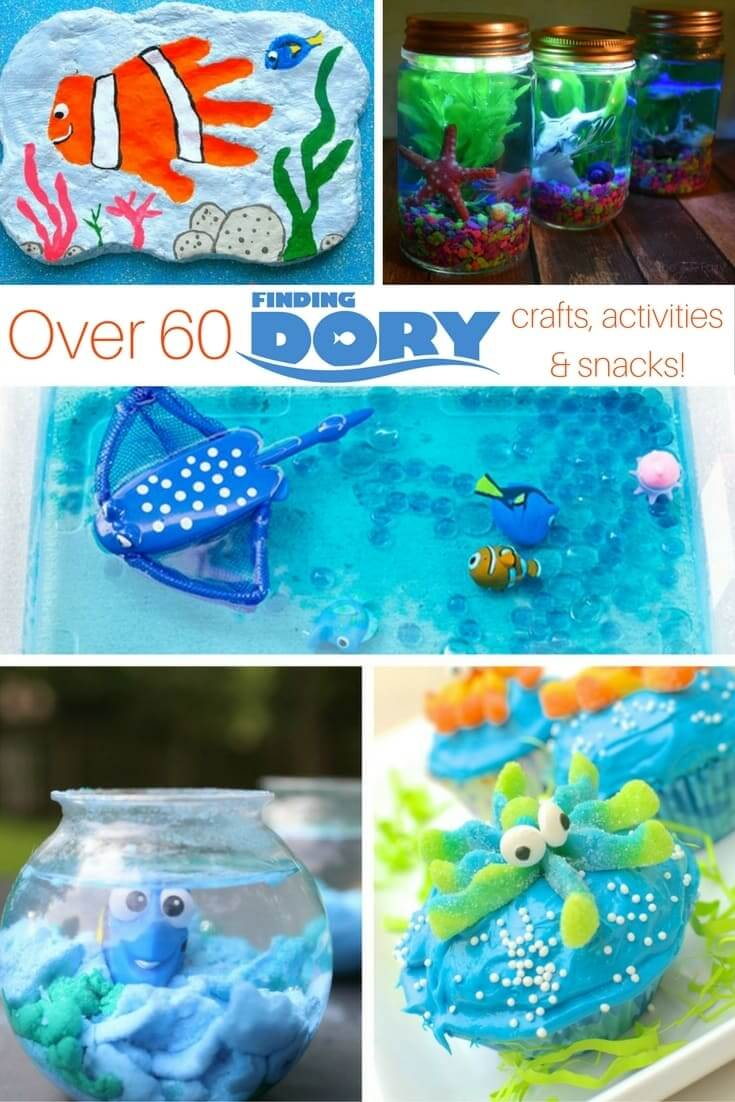 60 finding dory crafts snacks activities sugar for Finding dory crafts for preschoolers